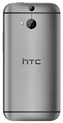 HTC Desire 510 smartphone back in dark grey with chrome surround