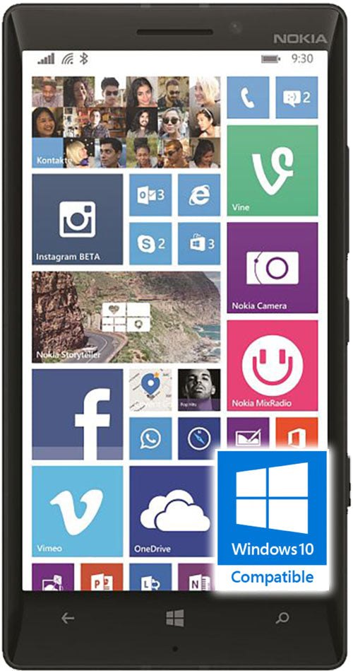 Microsoft Lumina 930 phone front screen