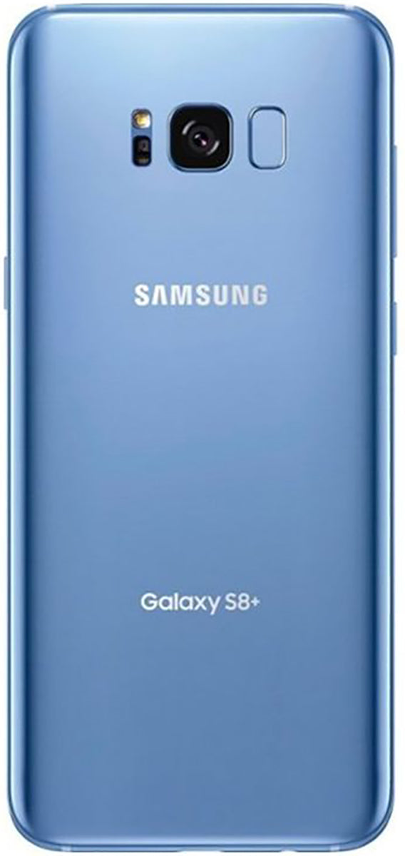 Samsung Galaxy S8+ (SM-G955F) smartphone back in coral blue