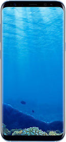 Samsung Galaxy S8+ (SM-G955F) smartphone front screen in coral blue