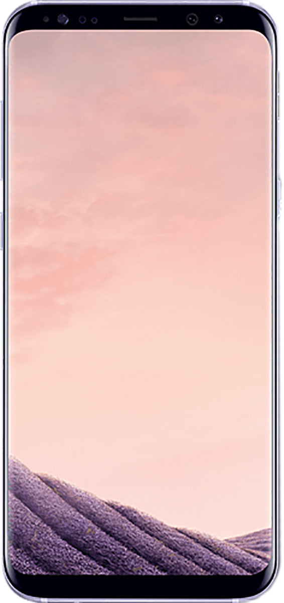 Samsung Galaxy S8+ (SM-G955F) smartphone front screen in orchid grey