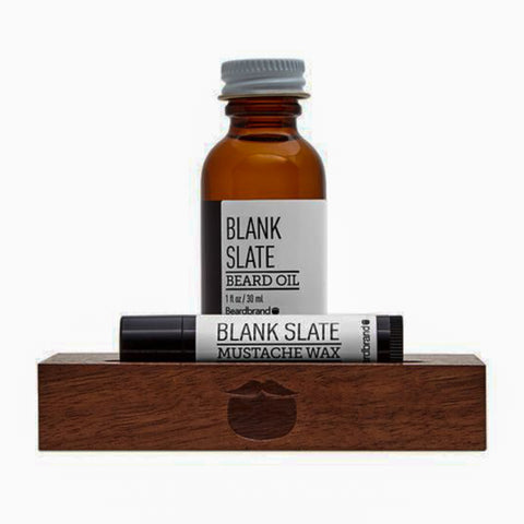 Beardbrand White Line Minimalist's Kit Blank Slate Beard Oil 30ml & Mustache Wax 4.25gr