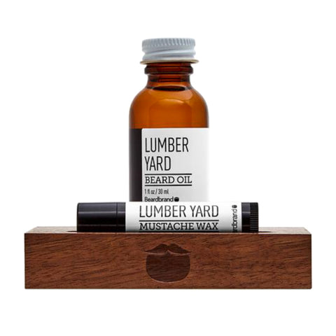 Beardbrand White Line Minimalist's Kit Lumber Yard Beard Oil 30ml & Moustache Wax 4.25gr