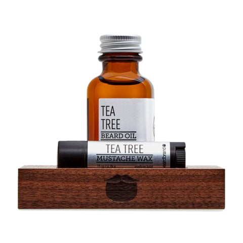 Beardbrand Silver Line Minimalist's Kit Tea Tree Beard Oil 30ml & Mustache Wax 4.25gr