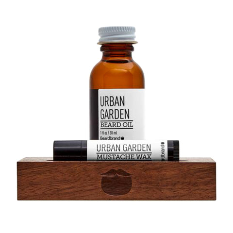 Beardbrand White Line Minimalist's Kit Urban Garden Beard Oil 30ml & Moustache Wax 4.25gr