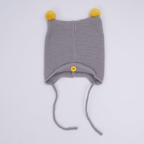 AUTUMN/WINTER WARM COTTON BABY HAT - GREY