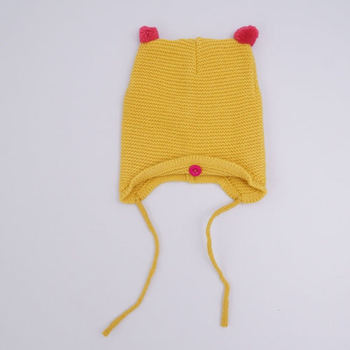 AUTUMN/WINTER WARM COTTON BABY HAT - YELLOW