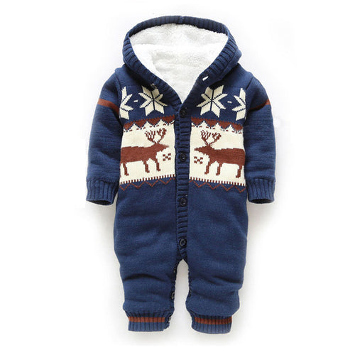 BABY WINTER ROMPER - CHRISTMAS DEER