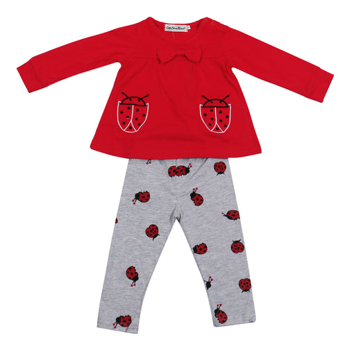 LADYBUG CLOTHING SET TOP + PANTS