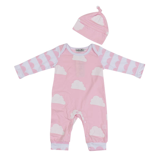 BABY CLOUD ROMPER - PINK