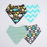 4 PCS BABY BIBS SET - ANIMAL