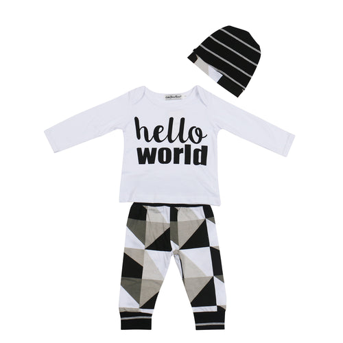 GRAPHIC HELLO WORLD CLOTHING SET