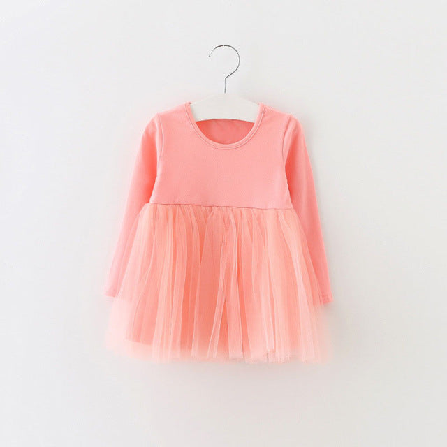 AUTUMN BABY GIRL DRESS - CORAL