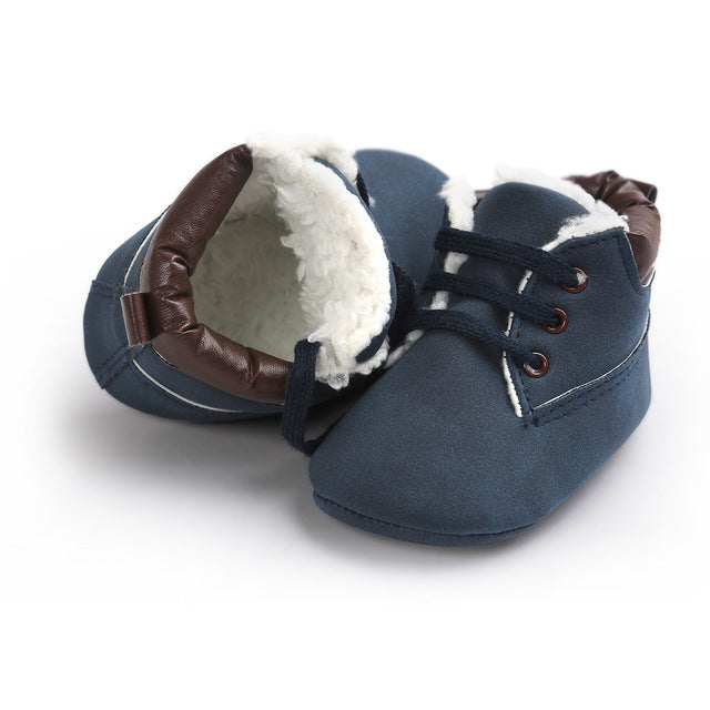 AUTUMNWINTER BABY SHOES LACE UP - NAVY