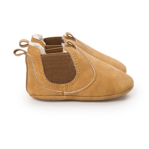 AUTUMN/WINTER BABY SHOES SLIP ON - CAMEL