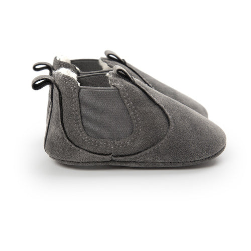 AUTUMN/WINTER BABY SHOES SLIP ON - GRAY