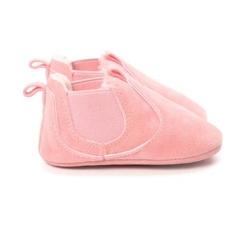 AUTUMN/WINTER BABY SHOES SLIP ON - PINK