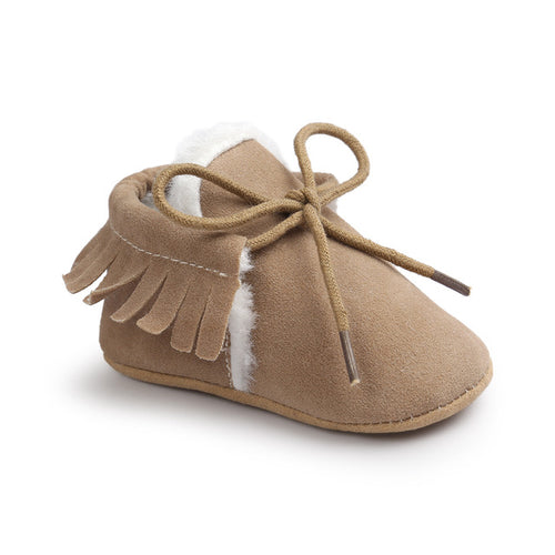 AUTUMN/WINTER BABY SHOES - MILKY COFFEE