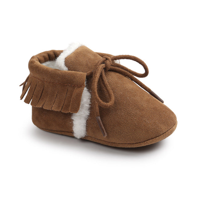 AUTUMNWINTER BABY SHOES - BROWN