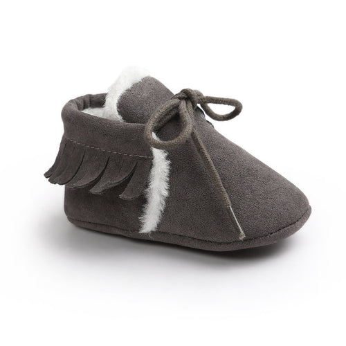 AUTUMN/WINTER BABY SHOES - GRAY