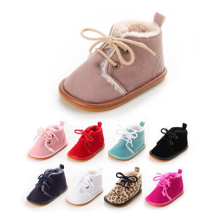 BABY SHOES SUEDE LEATHER WITH FUR