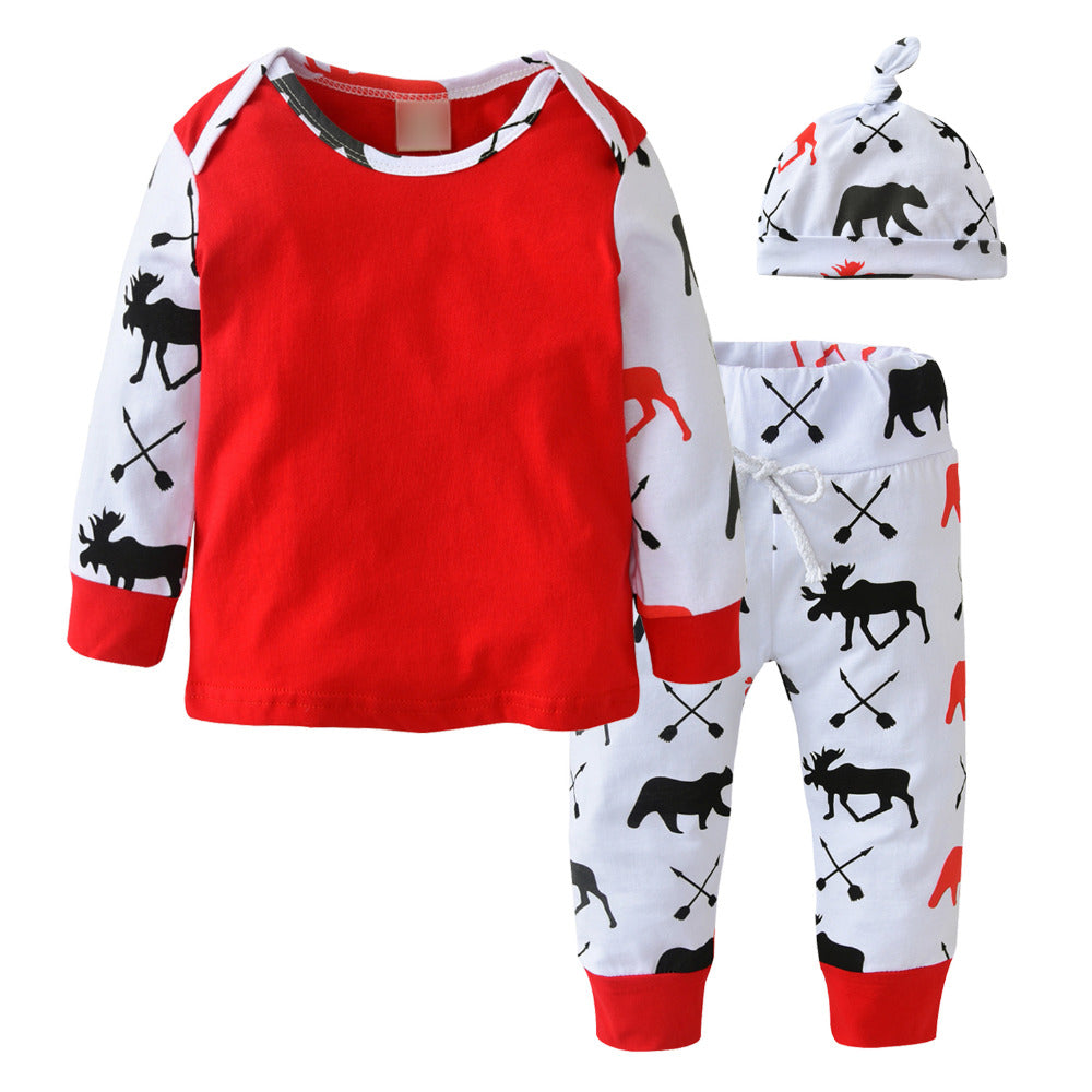 BABY CHRISTMAS CLOTHING SET -RED