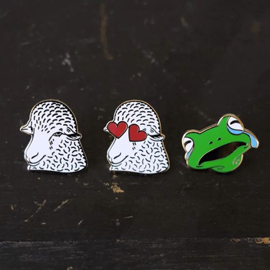 Fringe Supply Co. enamel pins