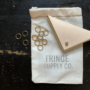 Fringe Supply Co. Leather stitch marker pouch