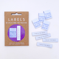 Labels, This is the back - dual pack