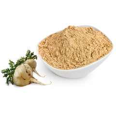 Maca Root in raw on powdered