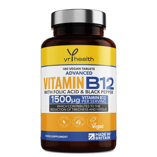 Advanced Vitamin B12 with Folic Acid & Black Pepper - 180 Tablets
