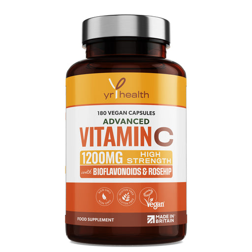 Advanced Vitamin C 1200mg with Bioflavonoids & Roship - 180 Vegan Capsules