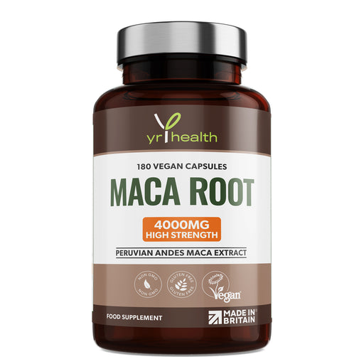 Highest Strength 4000mg Peruvian Andes Maca Root Extract  - 180 Vegan Capsules