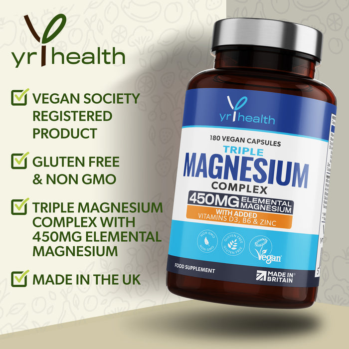 Advanced Triple Magnesium Complex - 180 Capsules