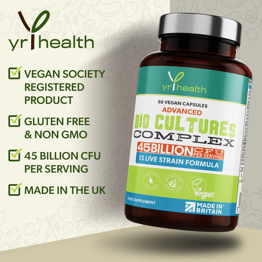 Advanced Bio Cultures Probiotic Complex - 60 Vegan Capsules