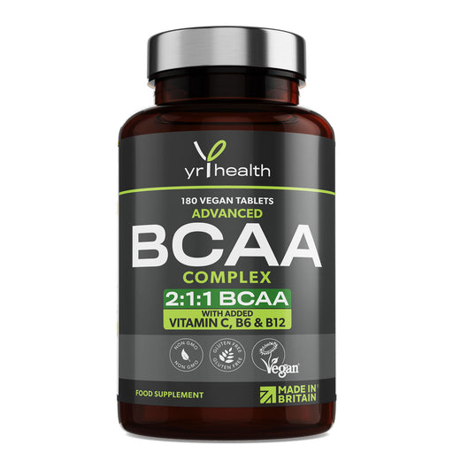 2:1:1 BCAAs Branch Chain Amino Acids + Vitamin C, B6 and B12 - 180 Vegan Capsules