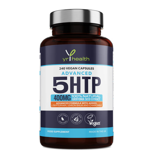 Advanced 5 HTP 400mg Griffonia Seed Extract - 240 Vegan Capsules