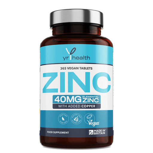 Vegan Zinc with added Copper Tablets - 1 Year Supply