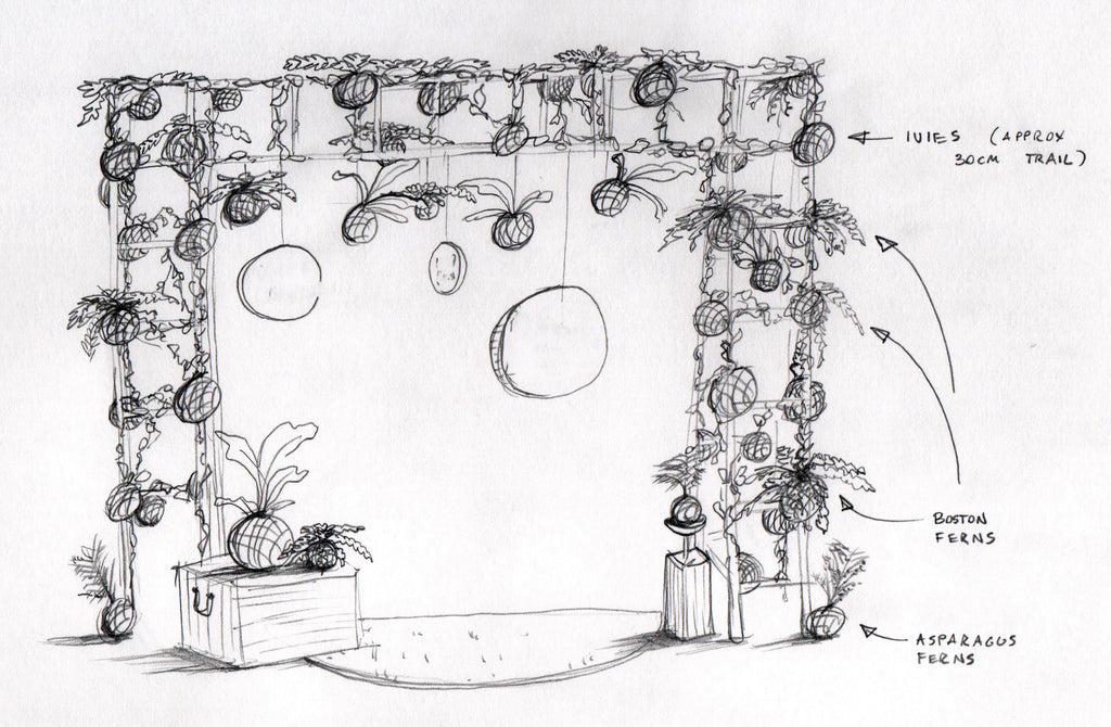 Hanging Plant Installation Design