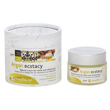 Argan Ectasy/Rejuvenation Face Cream for Shine with Mastic & Argan Oil