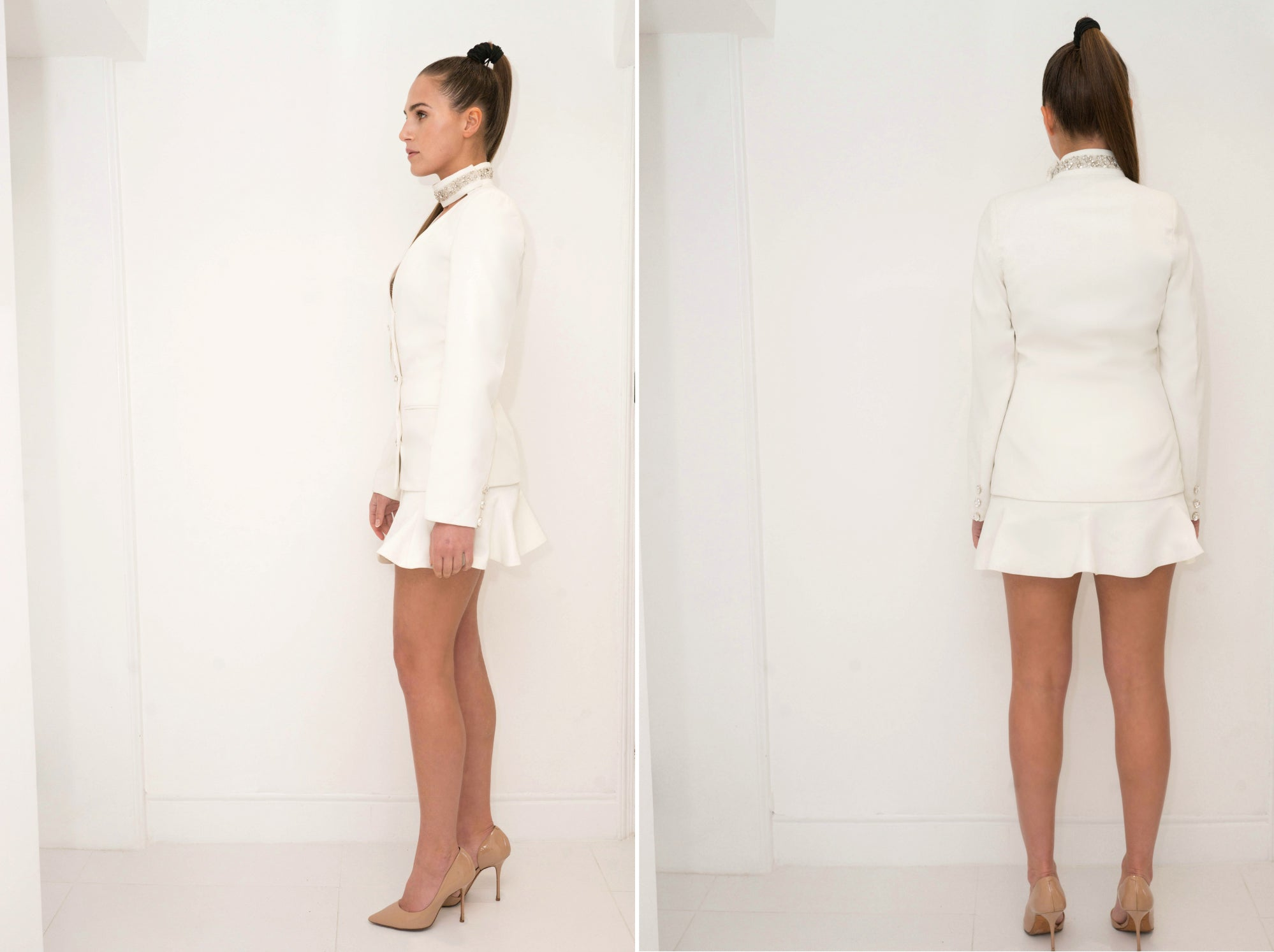 Crystal Collar Jacket