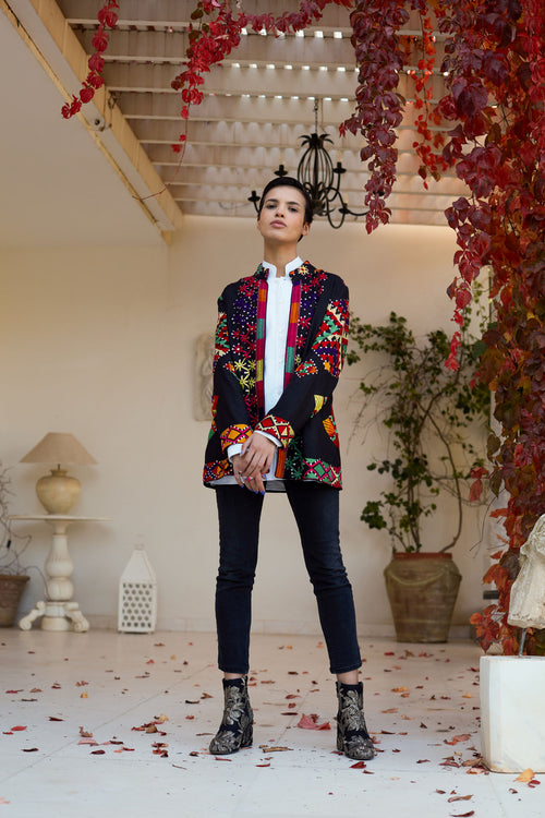 Aditi - Embroidered Silk Thread Jacket