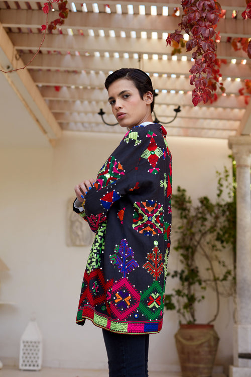 Adra - Embroidered Silk Thread Jacket