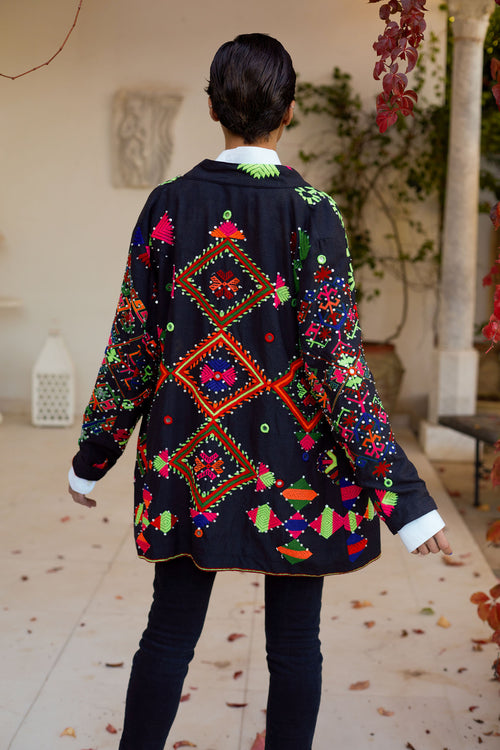 Adya - Embroidered Silk Thread Jacket