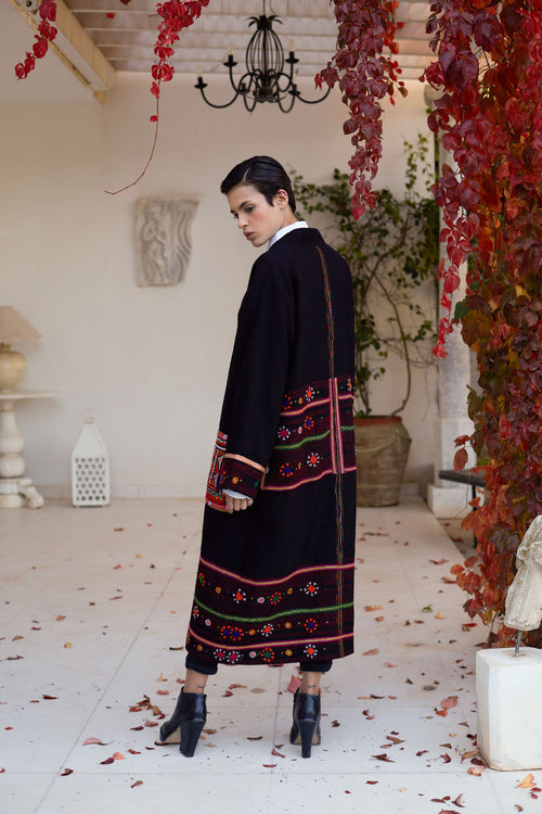 Gaya - Wool Embroidered Indian Coat