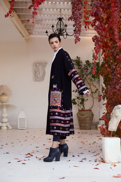 Ila - Wool Embroidered Coat
