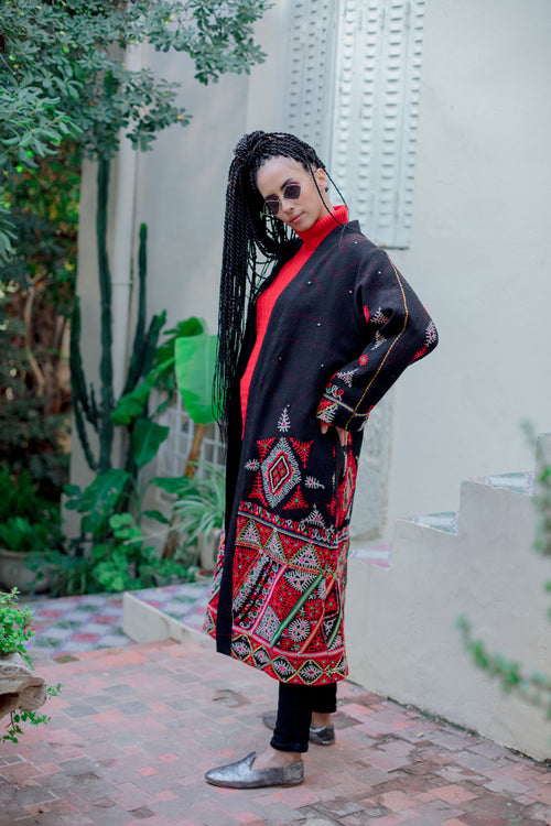 Nashi - Wool Embroidered Coat