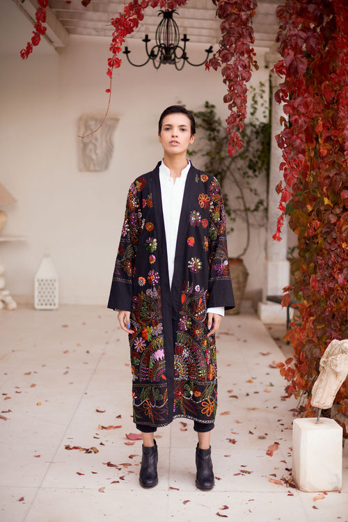 Naziha - Sequin Embroidered Coat