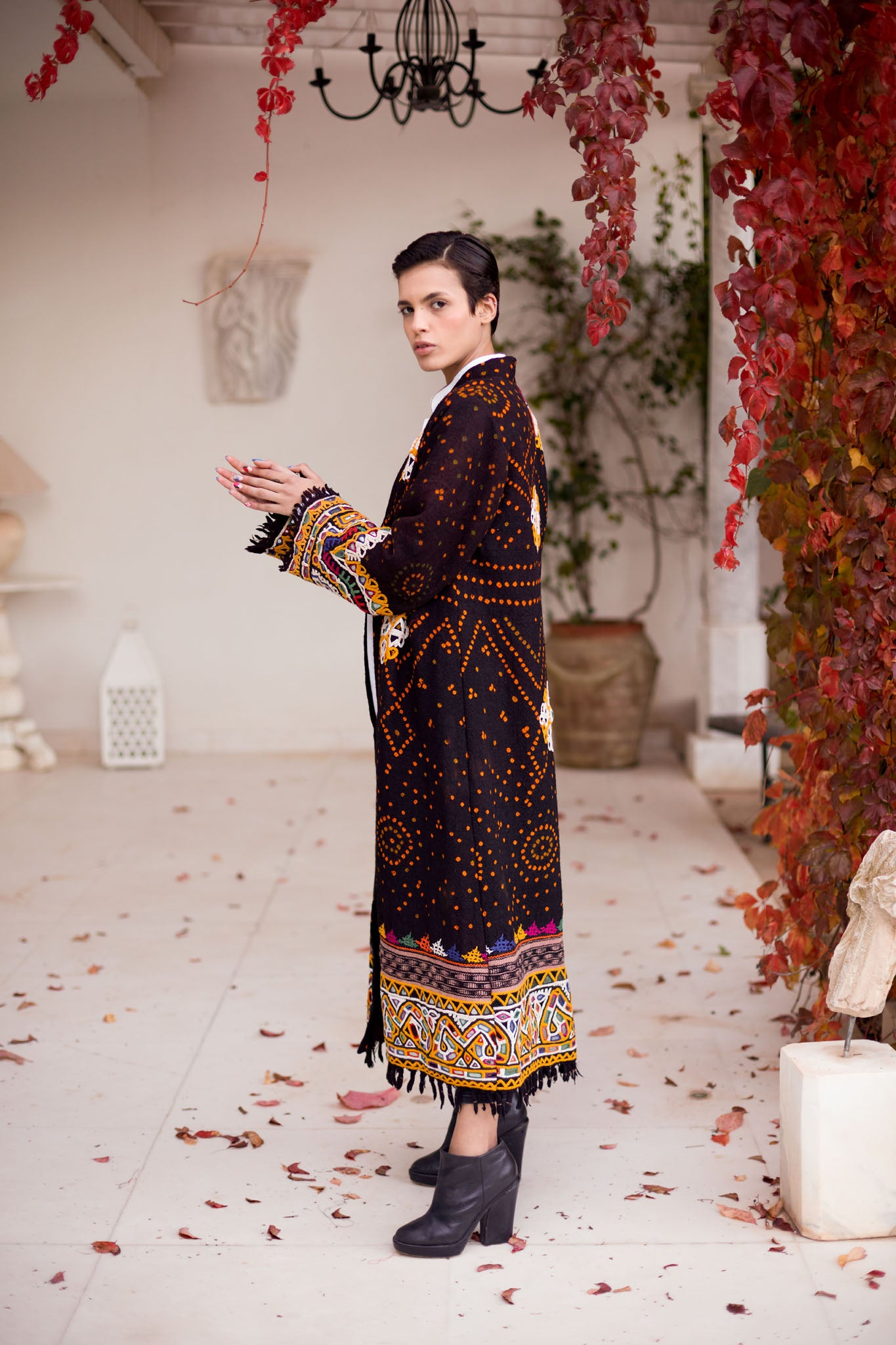 Urvi - Wool Embroidered Coat