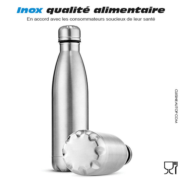 Bouteille thermos inox qualité alimentaire